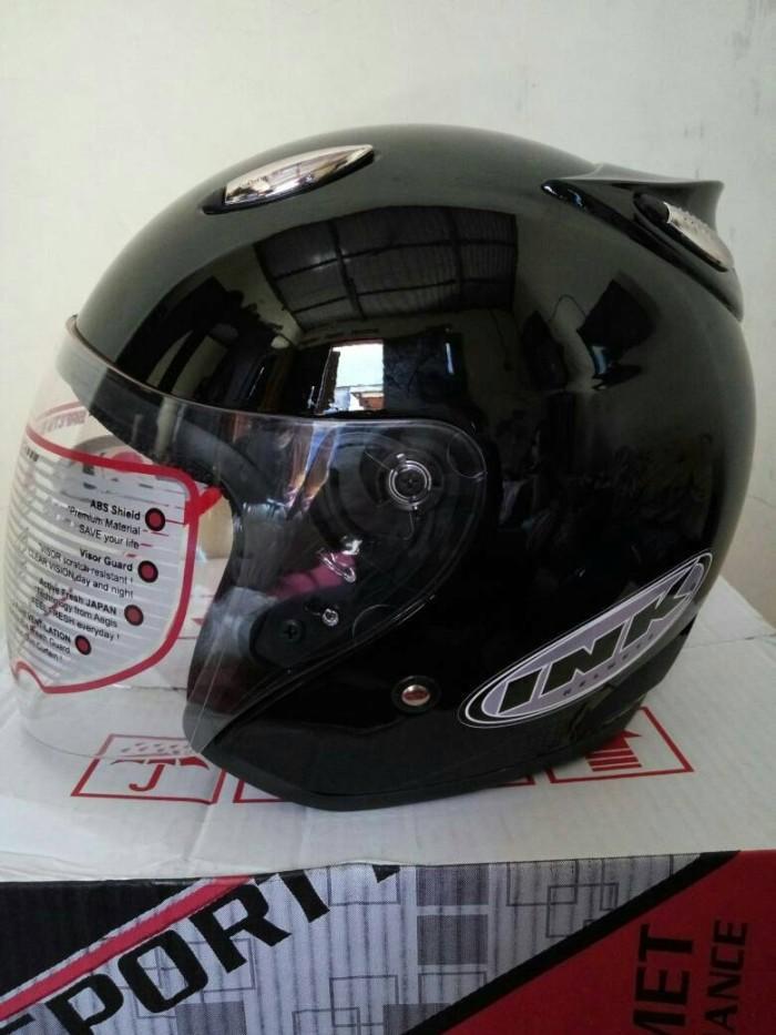 Helm basic model ink centro hitam metalik murah kyt mds berkualitas