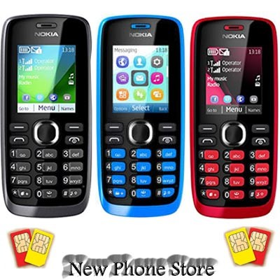 Nokia 112 gsm dual sim ( black / blue / red )