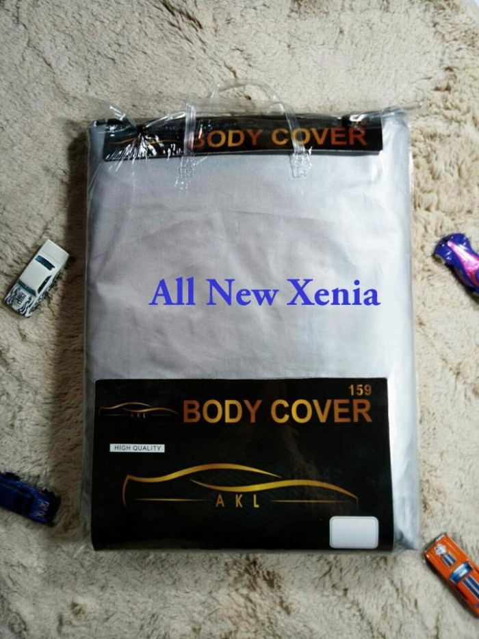 All New Xenia Silver Coating Body Cover Mobil/Sarung Mobil