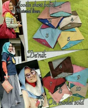 harga Jilbab hoodie short bobal Tokopedia.com