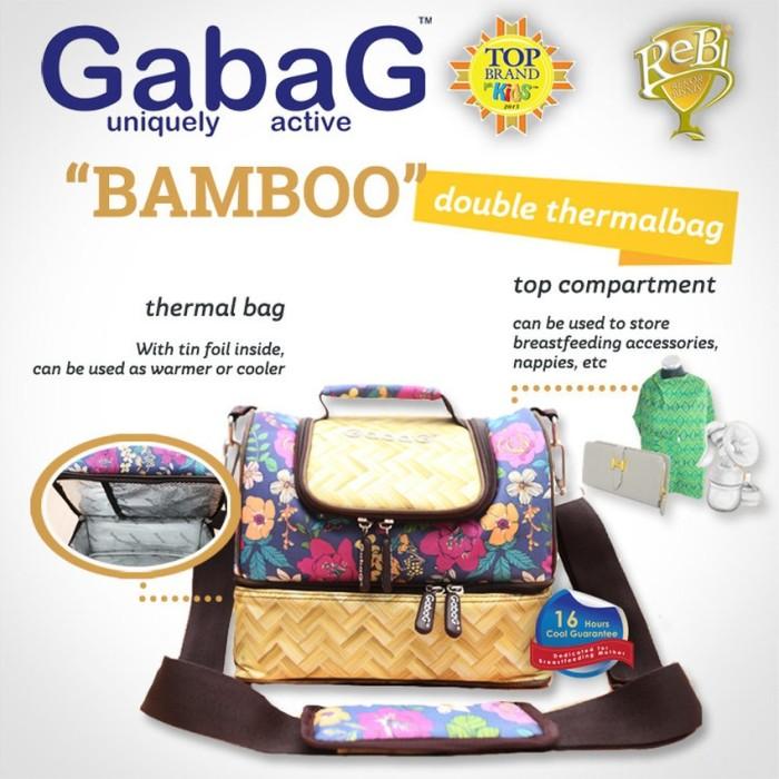Gabag cooler bag bamboo tas penyimpan asi - free 2 ice gel