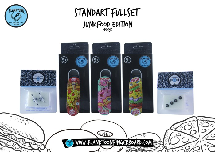 harga Planktoon fingerboard - standart fullset   junk food Tokopedia.com