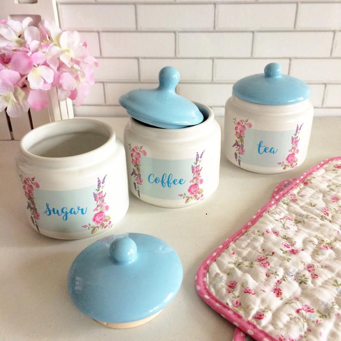 harga Toples keramik biru Tokopedia.com