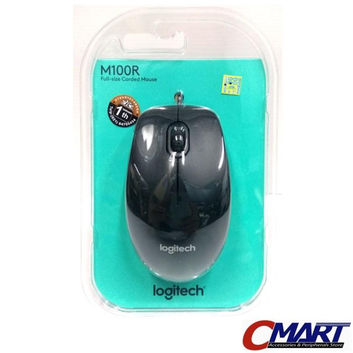 836a8a95a6b Jual Logitech m100r Wired Mouse Logitec kabel mous m100 m 100 100r ...