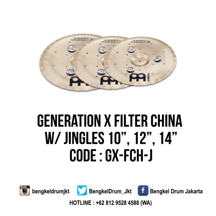 "Foto Produk Meinl Cymbal Generation X Jingle Filter China 14"" dari Bengkel Drum Jakarta"