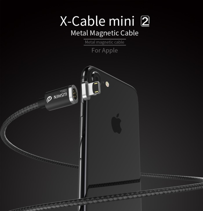 harga Wsken xcable (mini 2 - metal magnetic cable) - up to 2.4a black/hitam Tokopedia.com