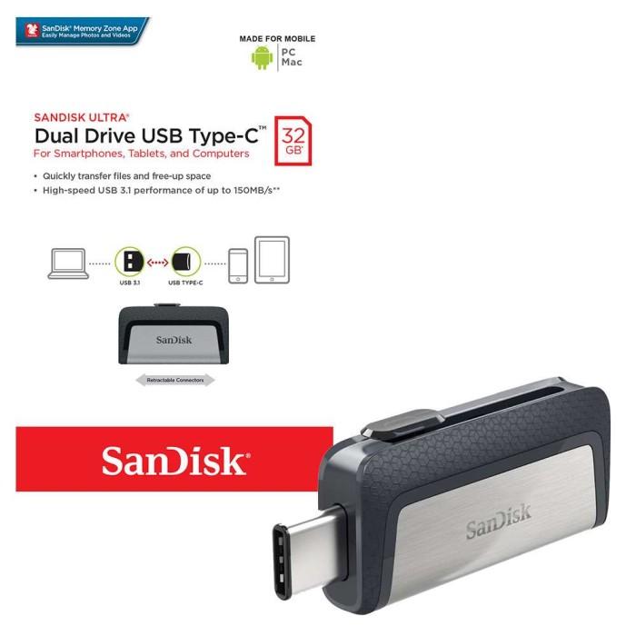 harga 32gb flashdisk otg usb type c flashdrive sandisk adapter memory card Tokopedia.com