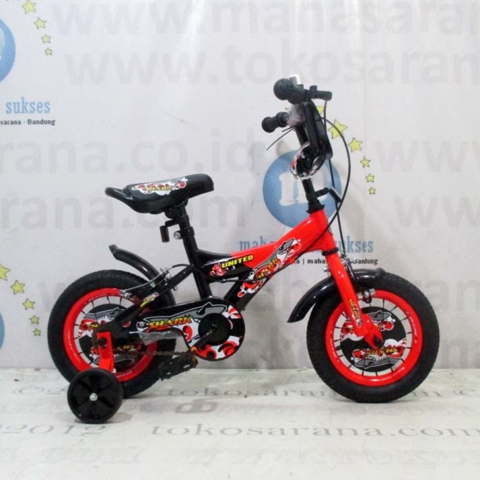 harga 12in united shark bmx sepeda anak laki-laki usia 2 - 4 tahun Tokopedia.com