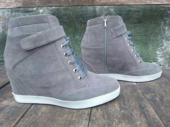 harga Sneaker hidden wedges sepatu casual tali nike boots heels kets shoes Tokopedia.com