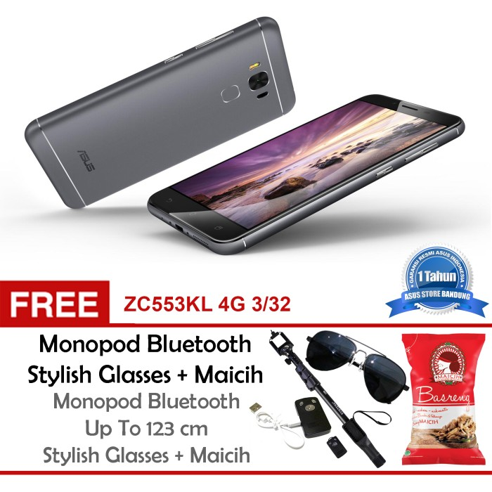 harga Asus zenfone 3 max zc553kl 3/32 16mp free tongsis glasses maicih Tokopedia.com