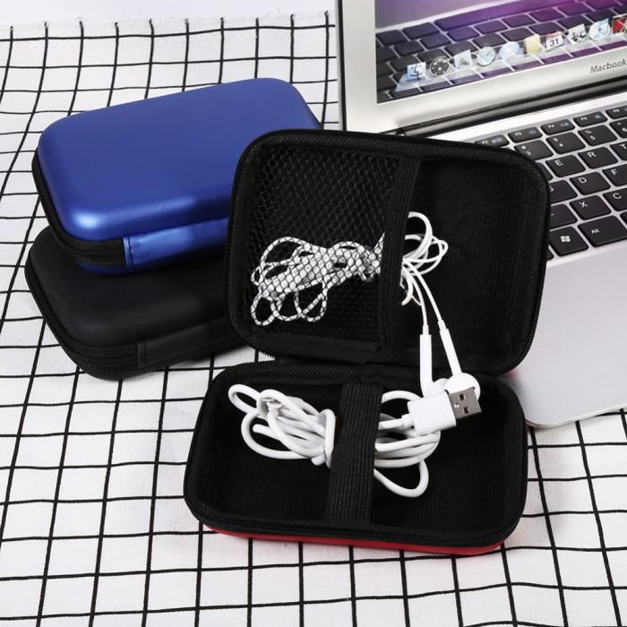 Ac-007 tas / kotak organizer usb kabel charger earphone
