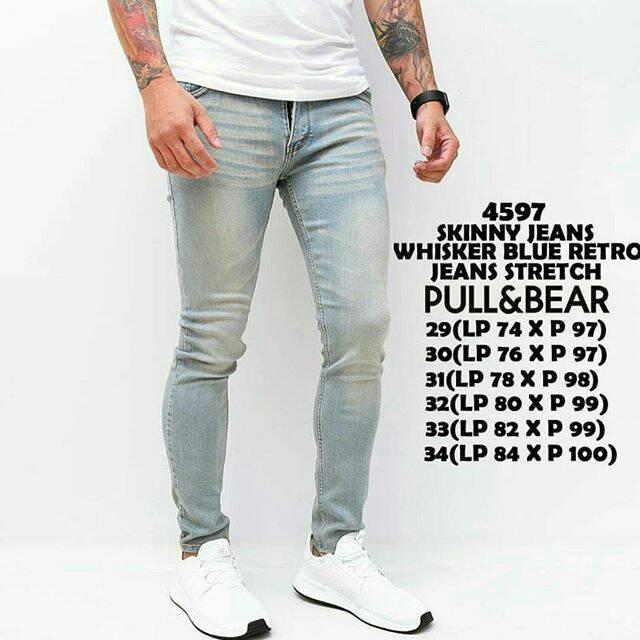 harga Retro blue pull & bear jeans keren mantap fashion tebal Tokopedia.com
