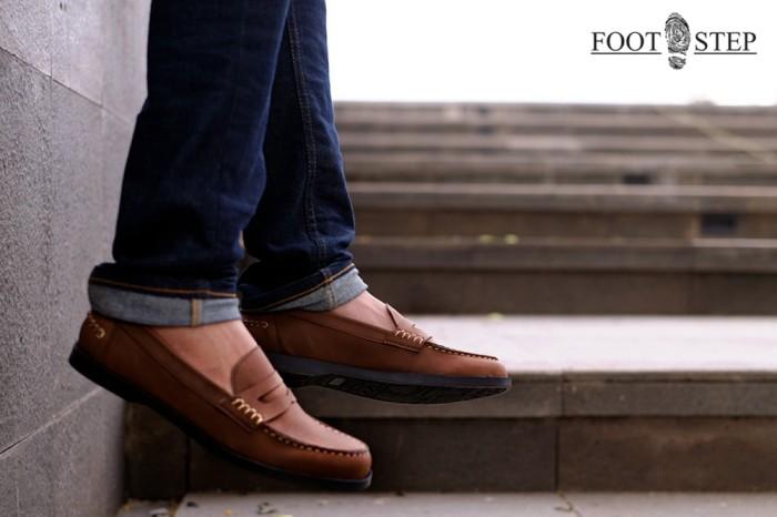 20752263253 Jual Sepatu Slip On Kulit Casual Pria Murah - Paradise Brown by ...