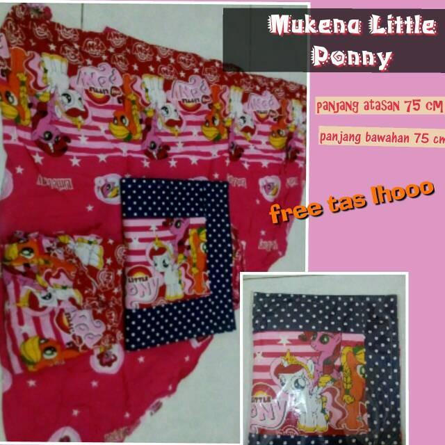 ... harga Mukena little ponny untuk anak 4 tahun free tas untuk sajadah kecil Tokopedia.com