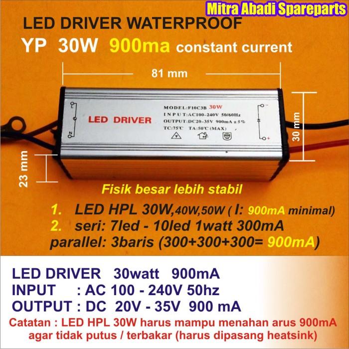 HPL 30W/High Power LED Sorot 30 Watt Warm White HUGA 60 Chips (0.5W)