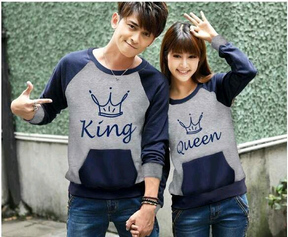 SWEATER COUPLE KING QUEEN ABU NAVY
