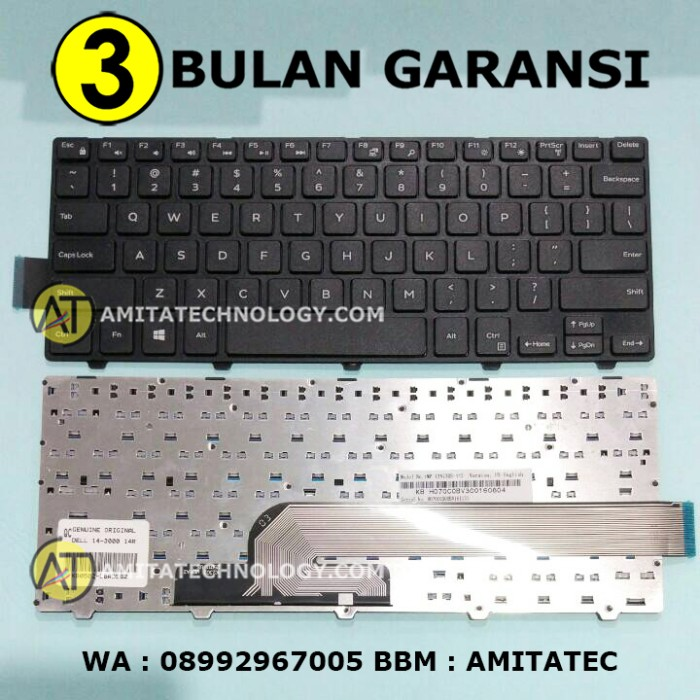 harga Original keyboard dell 14-3000 14-3441 14-3442 14-5442 3441 3442 Tokopedia.com