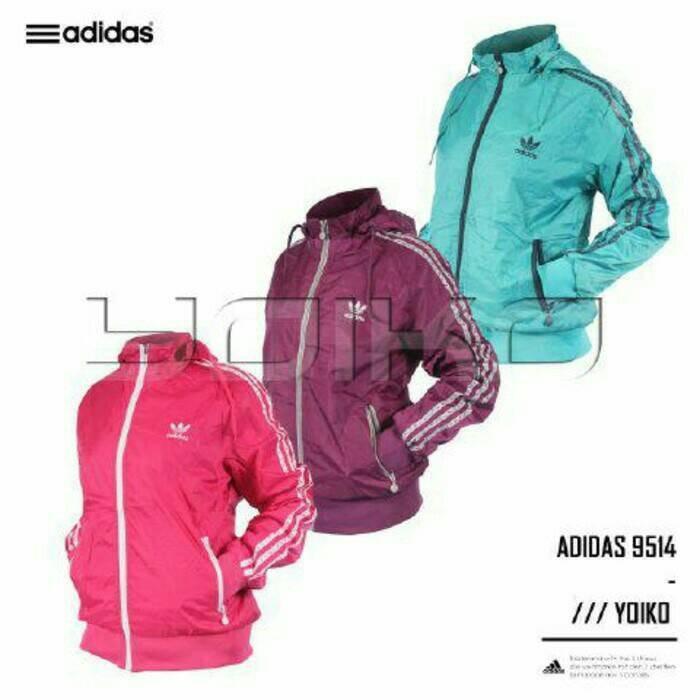harga Jaket adidas women 9514 parasut waterproof 2in1 bolak balik import Tokopedia.com