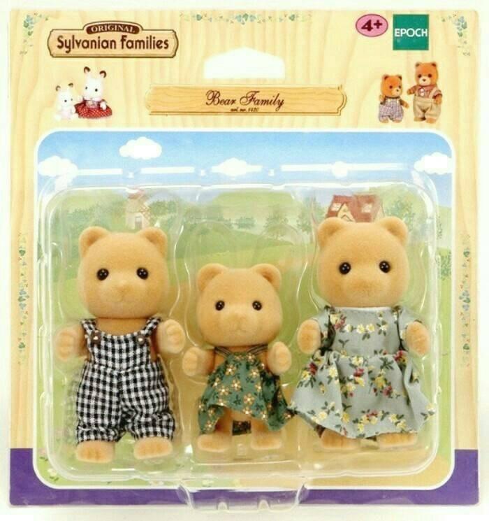 harga Sylvanian families rare - bear family set of 3 Tokopedia.com