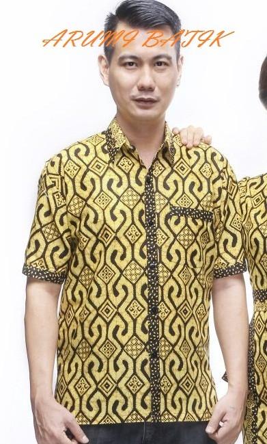 Kemeja hem atasan baju seragam pria batik 1881 kupat big size