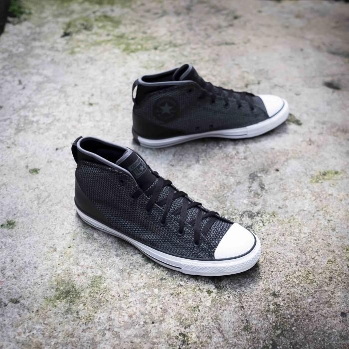 converse ct hi mid street knit black