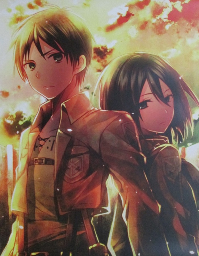 Gambar Anime Attack On Titan Eren Dan Mikasa Anime Wallpapers