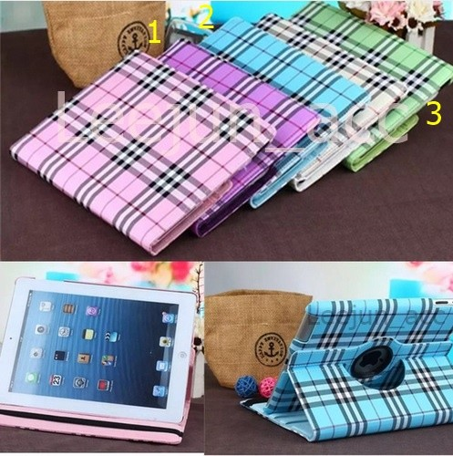 harga Ipad mini 1/2/3 luxury scotland grid rotary smart cover / case (hard) Tokopedia.com