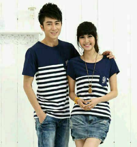 harga Baju couple sailor navy / kaos pasangan murah / fashion pakaian couple Tokopedia.com