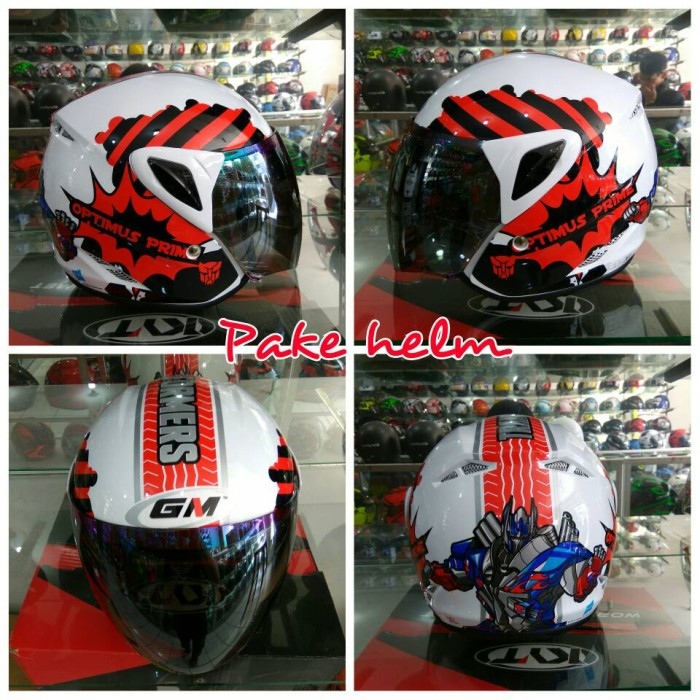 harga Helm anak gm evo kid transformer red Tokopedia.com