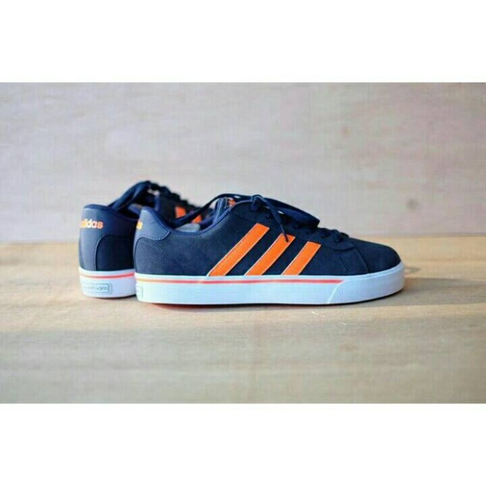 low priced b4661 53366 Sepatu Adidas Neo Cloadfoam Skate Navy Orange Original