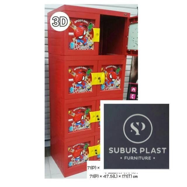 harga Lemari Plastik Lemari Pakaian Naiba Susun 4 + Kunci Spiderman Tokopedia.com