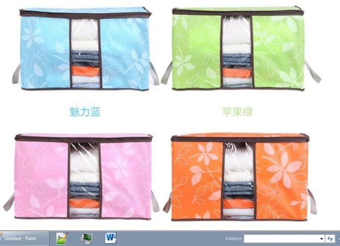 Cloth Organizer Motif Bunga/Tempat Baju/Storage Bag Simpan Penyimpanan