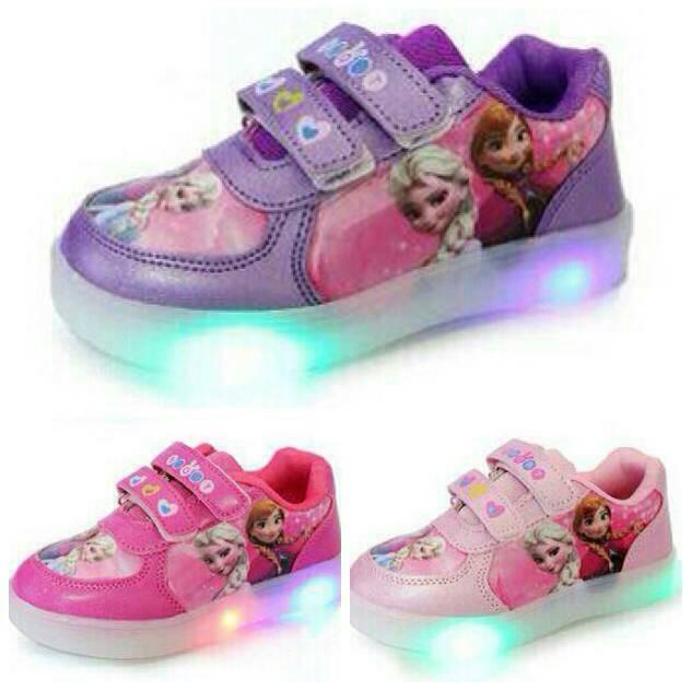 Harga Jual Sepatu Anak Perempuan Frozen Lampu Led Import Sekolah Sd ... 821e1b80f1