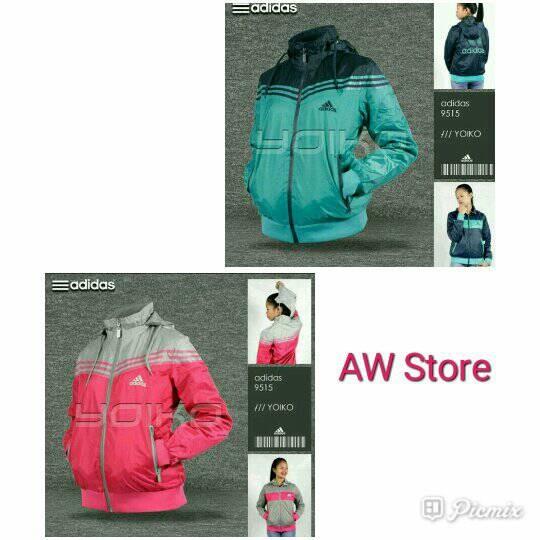 harga Jaket adidas women 9515 parasut waterproof 2in1 bolak balik import Tokopedia.com