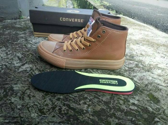 Jual Sepatu Converse All Star Leather Kulit Full Coklat Grade Ori ... 59968dc8e3