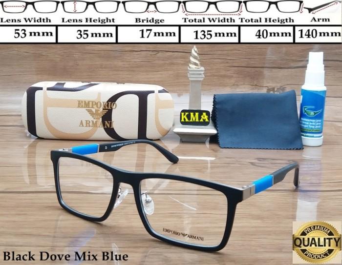 harga Frame kacamata minus emporio armani superior frame minus frame kotak Tokopedia.com