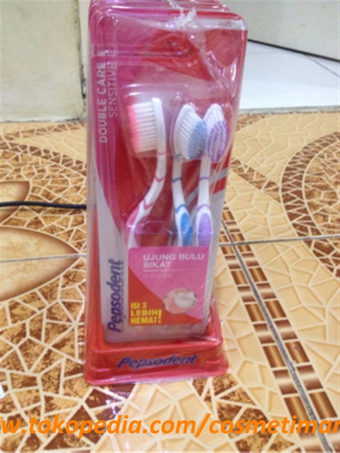 Jual SIKAT GIGI PEPSODENT DOUBLE CARE ISI 3 - COSMETIMART ID  2ee2d804a0
