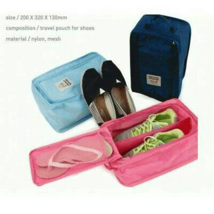 Monopoly shoes pouch travel tas sandal sepatu bag organizer (S Prom