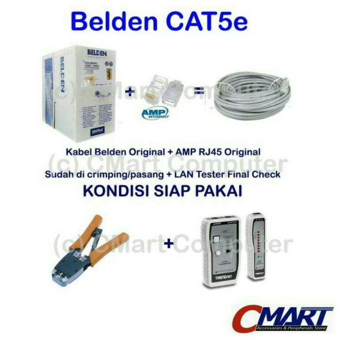 harga Belden 25m utp rj45 cat5e original usa cable kabel network (siappakai) Tokopedia.com