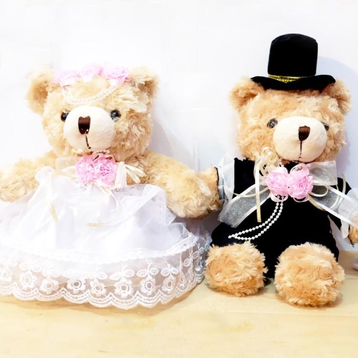 Jual Boneka Teddy Bear Couple Wedding 30CM - unyu-unyu boneka ... 35d412cae9