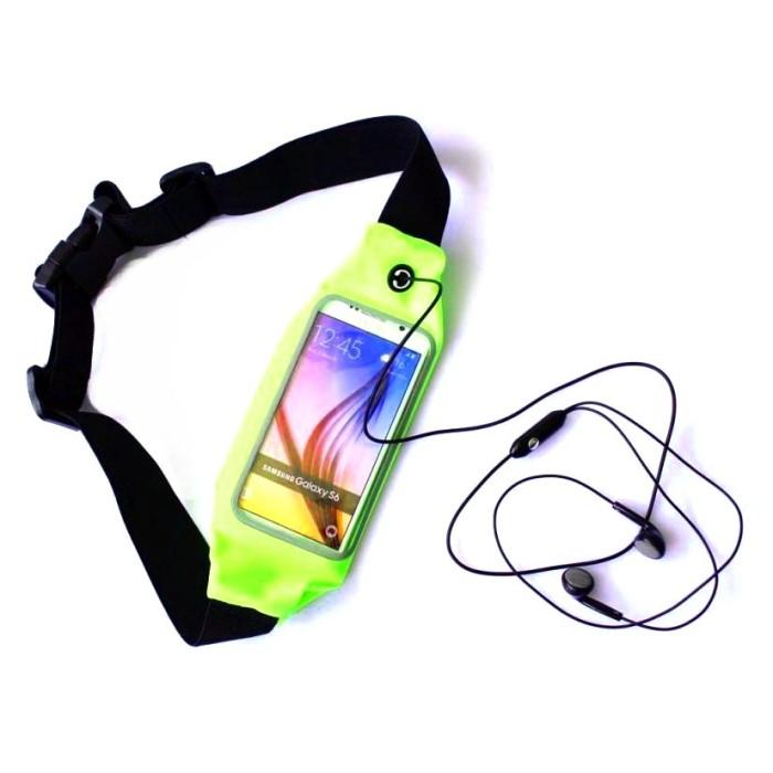 harga Ikat pinggang olahraga waterproof dengan slot smartphone green Tokopedia.com
