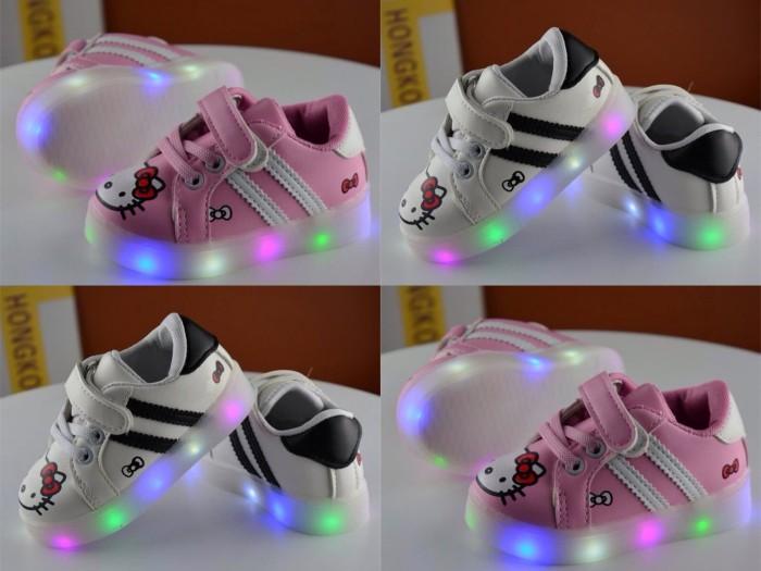 harga Sepatu Anak Adidas Hello Kitty Lampu Led Tokopedia.com