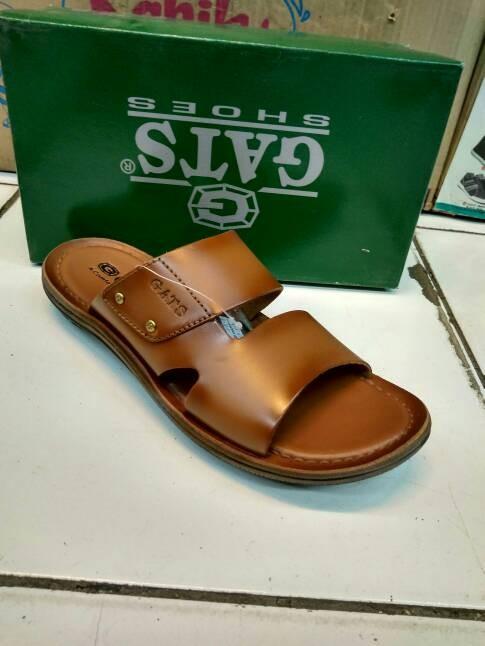 Sandal kulit gats hg 283 tan / 100% original
