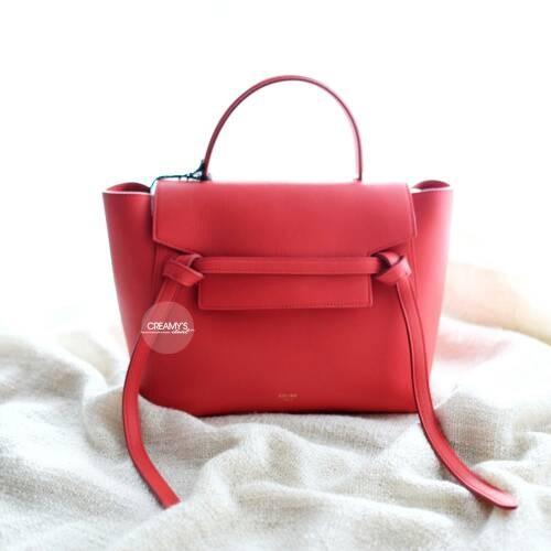 Jual Celine Micro Belt Bag Red Poppy - Creamy s Closet  33c7b40d53172