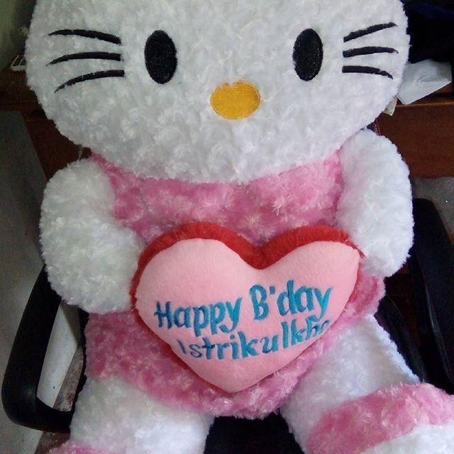 Jual Boneka Hello Kitty Jumbo 1 Meter Pink Plus Bordir Love Nama 1972d377f1