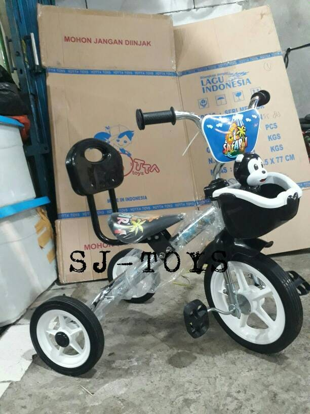 harga Sepeda roda tiga senderan keranjang music pmb chrome/mobil dorong Tokopedia.com