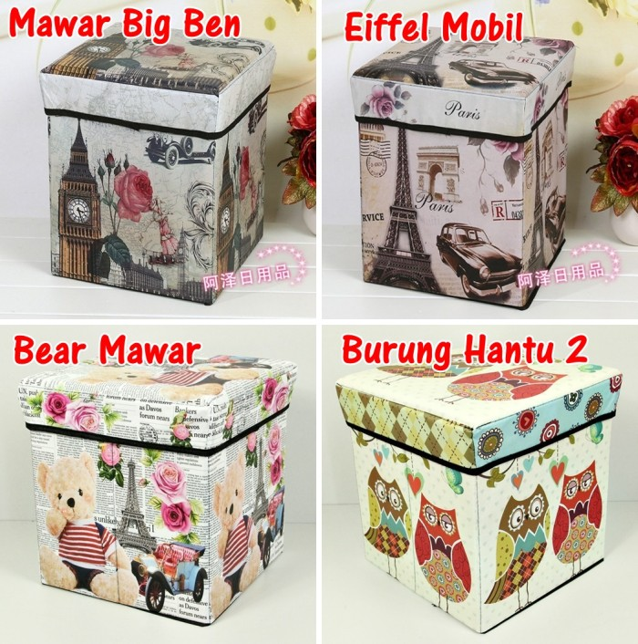 Tempat Menyimpan Barang Mainan Buku Majalah Container Wadah Source · Storage box Storage Stool Tempat Mainan Majalah Box Simpan