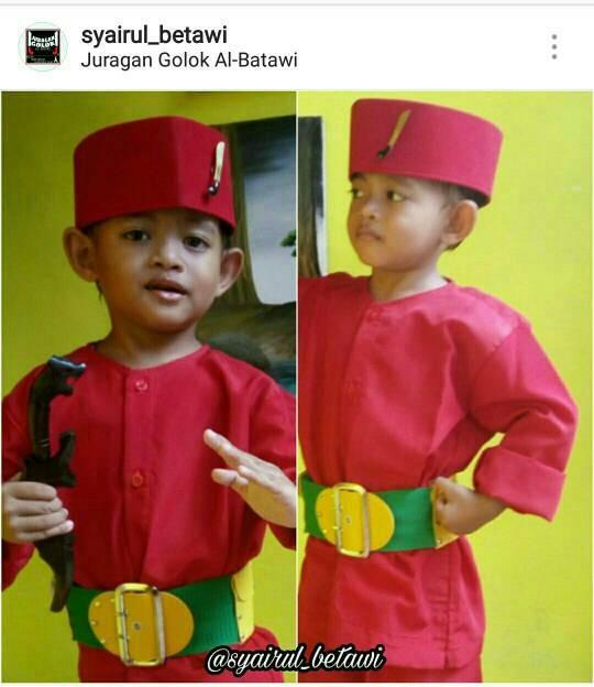 Foto Produk Stelan BAJU BETAWI ANAK ANAK baju pangsi baju silat baju adat betawi dari Juragan Golok Al-Batawi