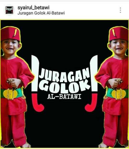 Foto Produk PAKET LENGKAP Baju Anak Anak Baju Pangsi Adat Betawi Baju Pitung Silat - 2-3 tahun, Merah dari Juragan Golok Al-Batawi