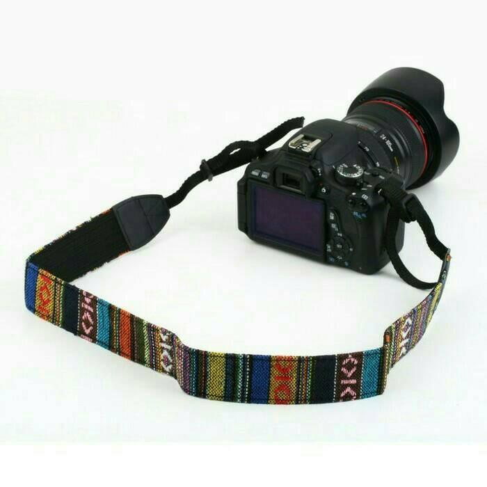 harga Universal camera shoulder strap dslr vintage / motif batik etnik Tokopedia.com